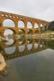 antique bridge-aqueduct Pont du Gard in Provence poster
