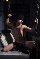 stripper-boy with chains