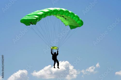 Fotobehang Luchtsport Parachuter and cloud