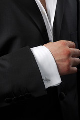 Element of modern man's suit