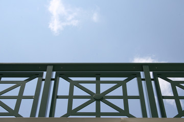 Patterned handrail