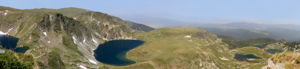 Mountain lakes panorama