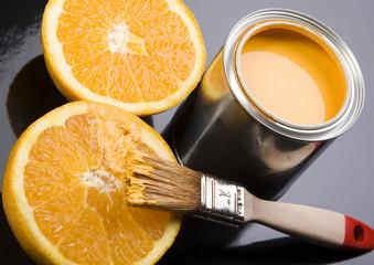 paint and orange