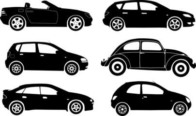 Silhouette cars, vector illustration