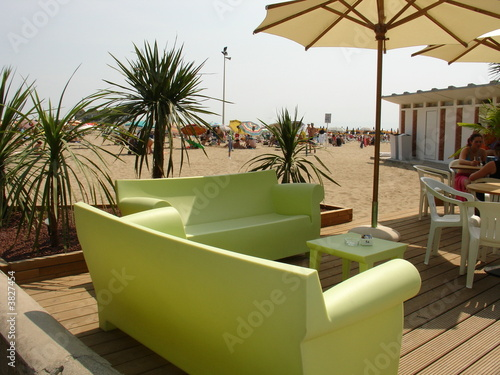 canvas print picture Beach Lounge