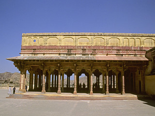 Diwan-I-Am (Hall of Public Audience) Amber fort. Jaipur india