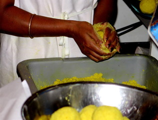 Roti filling of split peas