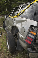 result of SUV accident - wreck