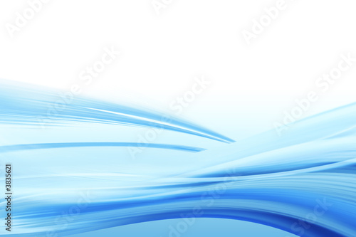 Illustration of blue water flowing horizontally oriented
