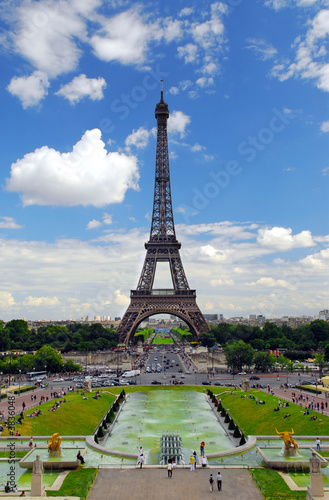 View of Eiffel tower from Trocadero. Paris, France.
