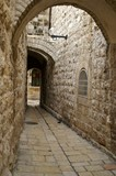 Historic street in old jerusalem city poster