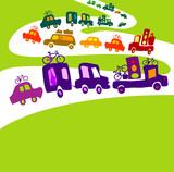 cars caravan poster