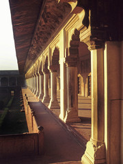 Diwan-I-Am (Hall of Public Audience) Red Fort, Agra, India.