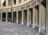 an arched walkway in the gamla stan area of Stockholm in Sweden poster