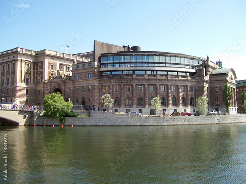 swedish parliamentary buildings in the capital of stockholm