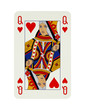 canvas print picture - Queen of hearts card