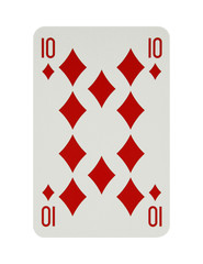 Ten of diamonds card