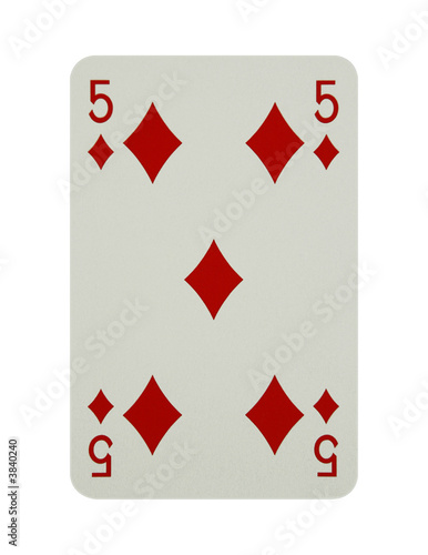 Five of diamonds card