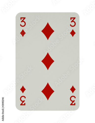 Three of diamonds card
