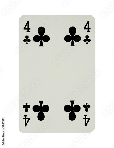 Four of clubs card