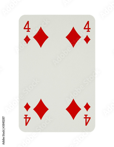 Four of diamonds card