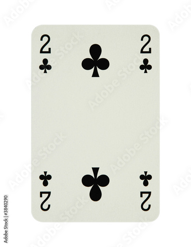 Two of clubs card