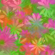 Seamless floral pattern in spring colors