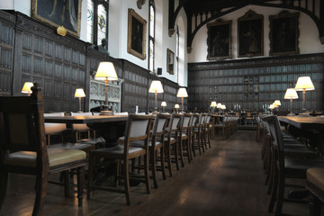 Oxford University, Magdalen College dining hall