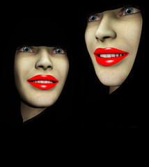 Two Red Lips Ladys 47