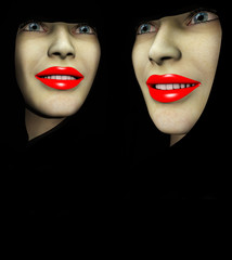 Two Red Lips Ladys 49
