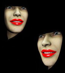 Two Red Lips Ladys 188