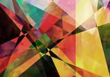 Geometric paperlike background poster