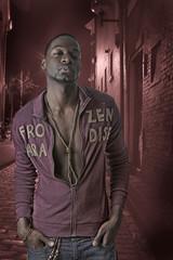 attractive black man on street