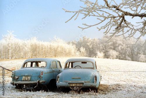 Foto op Canvas Vintage cars Frostige Zeiten