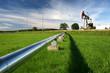 Leinwanddruck Bild - Pipeline coming from oil pump