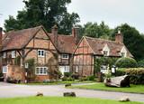 Timber Framed English Village Cottages poster
