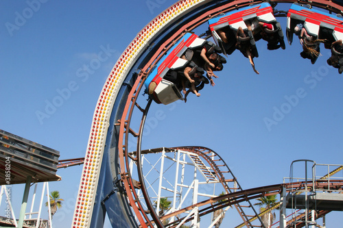 the roller coaster - 3858204