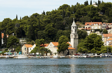 Croatia. Cavtat. Old town.