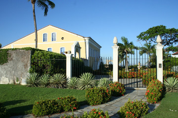 Haus, Villa im Kolonialstil, Insel Itaparica, Bahia, Brasilien