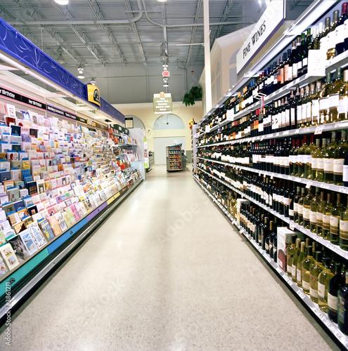 Keuken foto achterwand Boodschappen Grocery Aisle