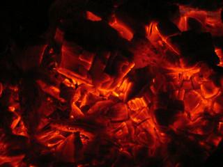 Hot Coals Glowing