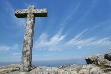 cross on top of the mountain