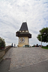 Schlossberg Clock tower in Graz, Austria