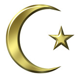 3D Golden Islamic Symbol poster