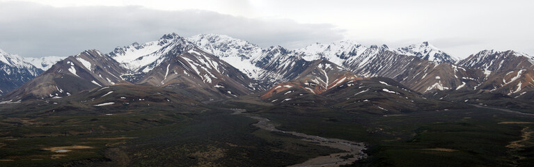 Panorex of Alaska mountain range
