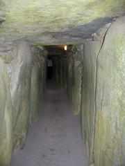 Going inside Newgrange