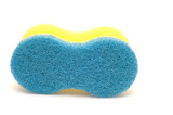 series object on white - Blue sponge poster