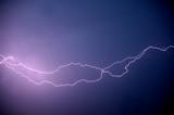 Horizontal thunderbolt poster