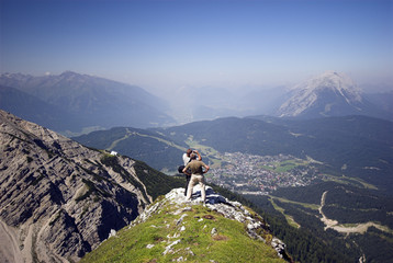 Looking Down on Seefeld in Austria