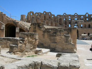 ancient roman stadium in tunisia africa 2